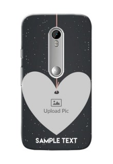 Motorola G Turbo Hanging Heart Mobile Back Case Design