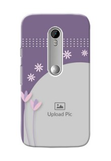 Motorola G Turbo lavender background with flower sprinkles Design Design