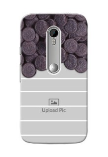 Motorola G Turbo oreo biscuit pattern with white stripes Design Design