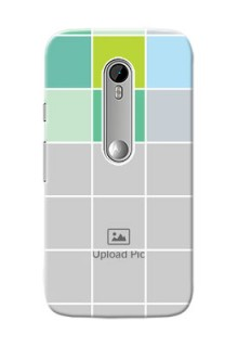 Motorola G Turbo white boxes pattern Design Design