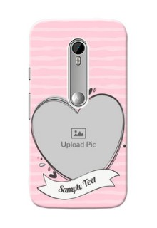 Motorola G Turbo seamless stripes with vintage heart shape Design