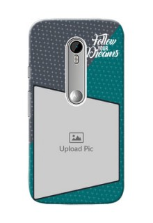 Motorola G Turbo 2 colour background with different patterns and dreams quote Design Design