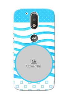 Motorola G4 Simple Blue Design Mobile Case Design