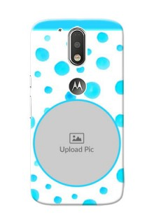 Motorola G4 Blue Bubbles Pattern Mobile Cover Design