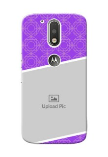Motorola G4 Violet Pattern Mobile Case Design