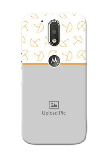 Motorola G4 Yellow Pattern Mobile Back Cover Design