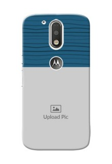 Motorola G4 Blue Pattern Mobile Case Design