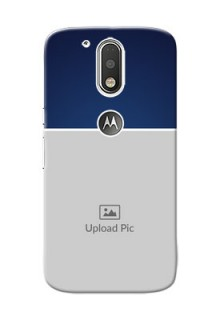 Motorola G4 Simple Blue Colour Mobile Cover Design
