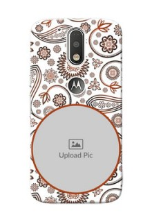 Motorola G4 Floral Abstract Mobile Case Design