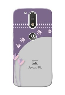 Motorola G4 lavender background with flower sprinkles Design Design