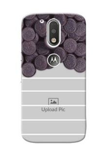 Motorola G4 oreo biscuit pattern with white stripes Design Design
