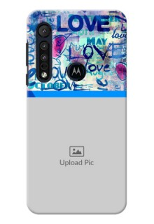 Motorola G8 Play Mobile Covers Online: Colorful Love Design