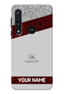 Motorola G8 Play Mobile Cases: Image Holder with Glitter Strip Design