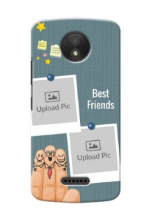Motorola Moto C Plus 3 image holder with sticky frames and friendship day wishes Design