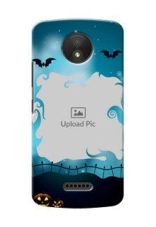 Motorola Moto C Plus halloween design with designer frame Design