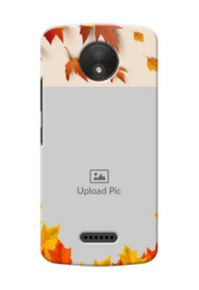 Motorola Moto C Plus autumn maple leaves backdrop Design