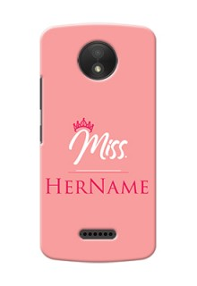 Motorola Moto C Plus Custom Phone Case Mrs with Name