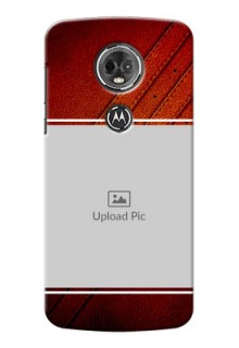 Motorola Moto E5 Plus Leather Design Picture Upload Mobile Case Design