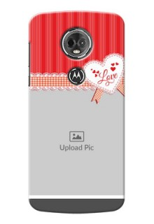 Motorola Moto E5 Plus Red Pattern Mobile Cover Design