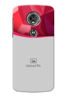 Motorola Moto E5 Plus Red Abstract Mobile Case Design