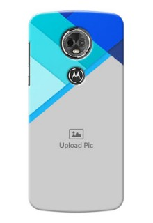 Motorola Moto E5 Plus Blue Abstract Mobile Cover Design