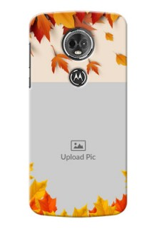 Motorola Moto E5 Plus autumn maple leaves backdrop Design