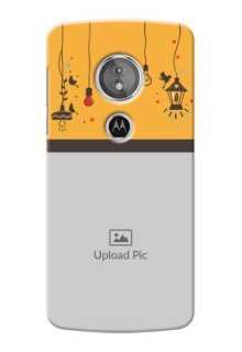 Motorola Moto E5 custom back covers with Family Picture and Icons