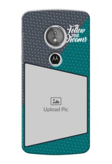 Motorola Moto E5 Back Covers: Background Pattern Design with Quote