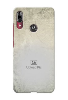 Motorola E6 Plus custom mobile back covers with vintage design