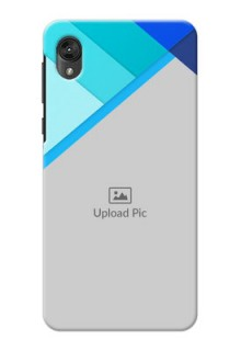 Motorola E6 Phone Cases Online: Blue Abstract Cover Design