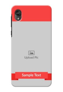 Motorola E6 Personalised mobile covers: Simple Red Color Design