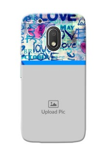 Motorola Moto G4 Play Colourful Love Patterns Mobile Case Design