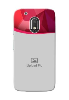 Motorola Moto G4 Play Red Abstract Mobile Case Design