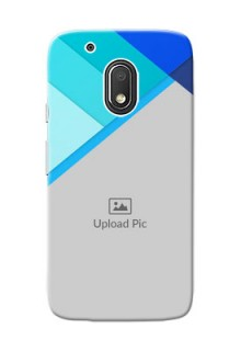 Motorola Moto G4 Play Blue Abstract Mobile Cover Design
