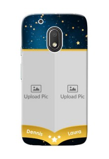 Motorola Moto G4 Play 2 image holder with galaxy backdrop and stars  Design
