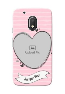 Motorola Moto G4 Play seamless stripes with vintage heart shape Design