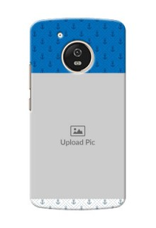 Motorola Moto G5 Blue Anchors Mobile Case Design