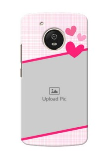 Motorola Moto G5 Pink Design With Pattern Mobile Cover Design