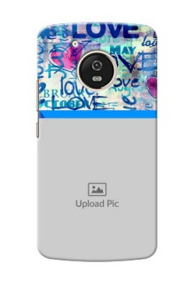 Motorola Moto G5 Colourful Love Patterns Mobile Case Design