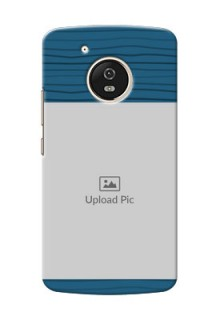 Motorola Moto G5 Blue Pattern Mobile Case Design
