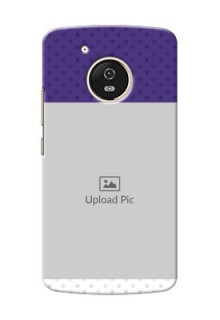 Motorola Moto G5 Violet Pattern Mobile Cover Design
