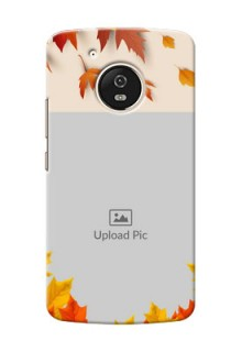 Motorola Moto G5 autumn maple leaves backdrop Design