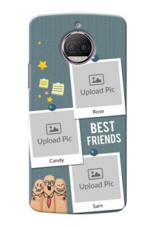 Motorola Moto G5S Plus 3 image holder with sticky frames and friendship day wishes Design