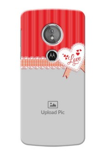 Motorola Moto G6 Play Red Pattern Mobile Cover Design