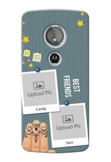 Motorola Moto G6 Play 3 image holder with sticky frames and friendship day wishes Design