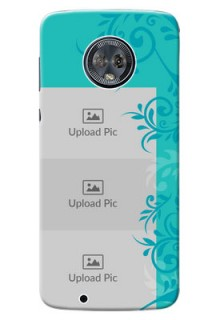 Motorola Moto G6 3 image holder with plain floral Design