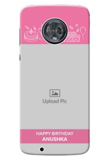 Motorola Moto G6 plain birthday line arts Design
