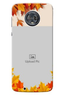 Motorola Moto G6 autumn maple leaves backdrop Design