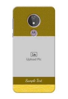 Moto G7 Power custom mobile back covers: Simple Green Color Design