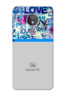 Moto G7 Power Mobile Covers Online: Colorful Love Design